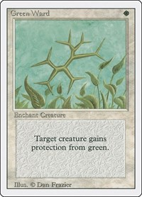 Green Ward, Magic: The Gathering, Revised Edition