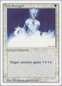 Holy Strength, Magic: The Gathering, Revised Edition