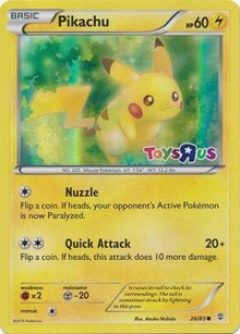 Pikachu (Toys R Us Promo), Pokemon, Miscellaneous Cards & Products