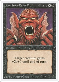 Howl from Beyond, Magic: The Gathering, Revised Edition