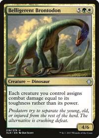 Belligerent Brontodon, Magic: The Gathering, Ixalan