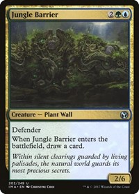 Jungle Barrier, Magic: The Gathering, Iconic Masters