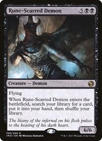 Rune-Scarred Demon, Magic: The Gathering, Iconic Masters