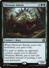 Obstinate Baloth, Magic: The Gathering, Iconic Masters