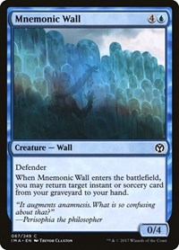 Mnemonic Wall, Magic: The Gathering, Iconic Masters