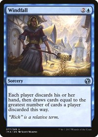 Windfall, Magic: The Gathering, Iconic Masters