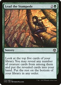 Lead the Stampede, Magic: The Gathering, Iconic Masters