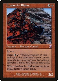 Avalanche Riders, Magic: The Gathering, Timeshifted