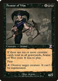 Avatar of Woe, Magic: The Gathering, Timeshifted