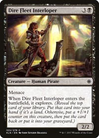 Dire Fleet Interloper, Magic: The Gathering, Ixalan