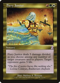 Fiery Justice, Magic: The Gathering, Timeshifted