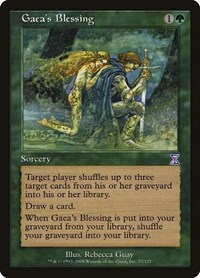 Gaea's Blessing, Magic: The Gathering, Timeshifted