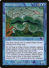 Giant Oyster, Magic: The Gathering, Timeshifted