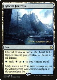 Glacial Fortress, Magic: The Gathering, Prerelease Cards