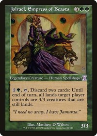 Jolrael, Empress of Beasts, Magic: The Gathering, Timeshifted