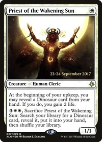 Priest of the Wakening Sun, Magic: The Gathering, Prerelease Cards