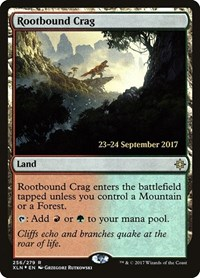 Rootbound Crag, Magic: The Gathering, Prerelease Cards