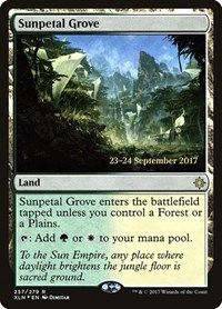 Sunpetal Grove, Magic: The Gathering, Prerelease Cards