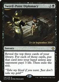 Sword-Point Diplomacy, Magic, Prerelease Cards