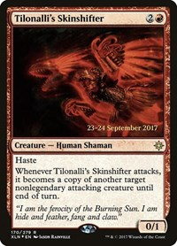 Tilonalli's Skinshifter, Magic: The Gathering, Prerelease Cards