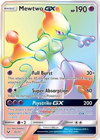 Mewtwo GX (Secret), Pokemon, Shining Legends
