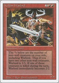 Keldon Warlord, Magic: The Gathering, Revised Edition