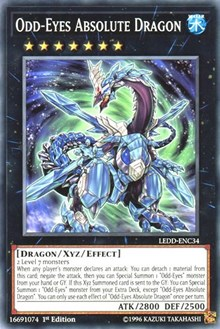 Odd-Eyes Absolute Dragon, YuGiOh, Legendary Dragon Decks