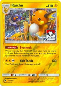 Raichu - 41/147 (League Promo) [3rd Place], Pokemon, League & Championship Cards