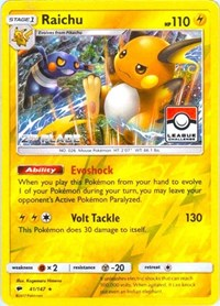Raichu - 41/147 (League Promo) [2nd Place], Pokemon, League & Championship Cards