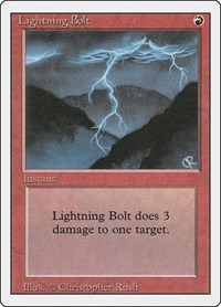 Lightning Bolt, Magic: The Gathering, Revised Edition