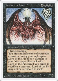 Lord of the Pit, Magic: The Gathering, Revised Edition