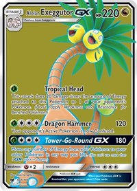 Alolan Exeggutor GX (Full Art), Pokemon, SM - Crimson Invasion