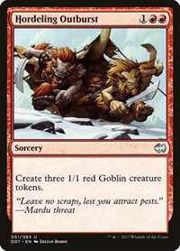 Hordeling Outburst, Magic: The Gathering, Duel Decks: Merfolk vs. Goblins
