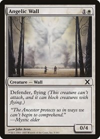 Angelic Wall, Magic: The Gathering, 10th Edition