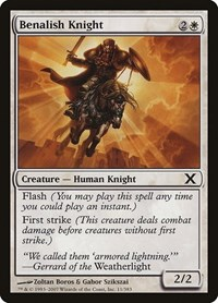 Benalish Knight, Magic: The Gathering, 10th Edition