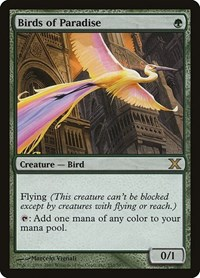 Birds of Paradise, Magic: The Gathering, 10th Edition