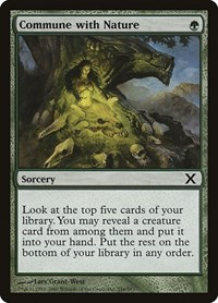 Commune with Nature, Magic: The Gathering, 10th Edition