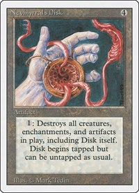 Nevinyrral's Disk, Magic, Revised Edition