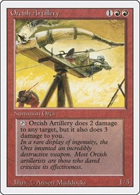 Orcish Artillery, Magic: The Gathering, Revised Edition