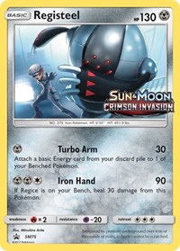 Registeel - SM75 (Prerelease Promo), Pokemon, SM Promos