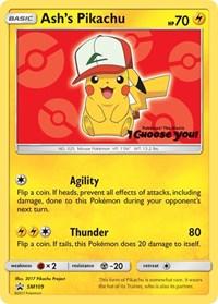 Ash's Pikachu - SM109, Pokemon, SM Promos