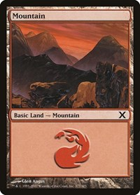 Mountain (377), Magic: The Gathering, 10th Edition