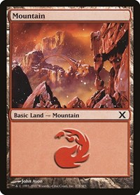 Mountain (378), Magic: The Gathering, 10th Edition