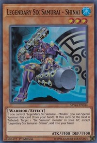 Legendary Six Samurai - Shinai, YuGiOh, Spirit Warriors