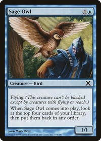 Sage Owl, Magic: The Gathering, 10th Edition
