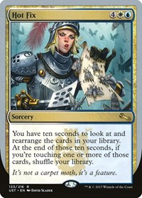 Hot Fix, Magic: The Gathering, Unstable