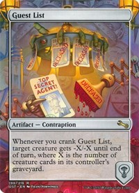 Guest List, Magic: The Gathering, Unstable