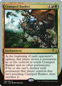 Cramped Bunker, Magic: The Gathering, Unstable