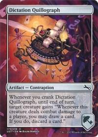 Dictation Quillograph, Magic, Unstable