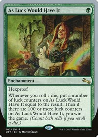 As Luck Would Have It, Magic: The Gathering, Unstable
